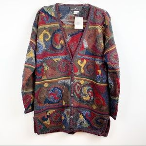 NWT Peruvian Connection Oversized Wool Cardigan L